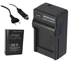 Patona Premium Akku 1140mAh + Ladegerät für OLYMPUS OMD E-M1 / E-M5  / BLN-1