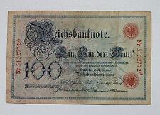 Ro. 20,  100 Reichsmark   1903