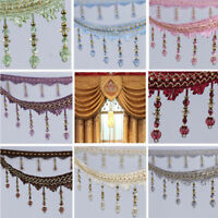 1m Curtain Sewing Tassel Fringe DIY Trim Tassel Crystal Bead Lace Accessory New