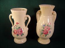 Vintage Pair Royal Copley Floral Vases  1940's - 50's