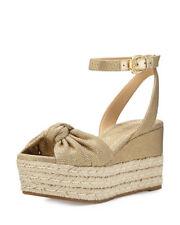 Michael Kors Women's Maxwell Mid-Wedge Sandal Size 7 Gold