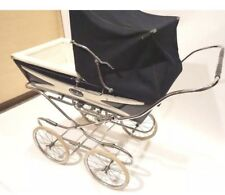 BEAUTIFUL POSH Silver Cross Berkeley Navy Blue Pram Stroller Carriage Vintage