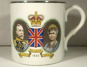 """Silver Jubilee Mug for George V and Queen Mary  1935  2.75"""" X 3"""""""