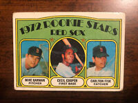 1972 Topps Carlton Fisk Cecil Cooper Rookie #79 Boston Red Sox Pudge HOF