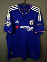 ADIDAS CHELSEA 2015/2016 CHAMPIONS LEAGUE FOOTBALL SOCCER SHIRT JERSEY SIZE XL