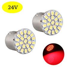 2 ampoules à LED   P21w / BA15s  24V  ROUGE  pour Camion  Poids lourd