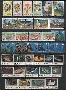 Vanuatu Collection Commemorative Sets (Inc Fish) Unmounted Mint