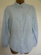 H&M Collared Long Sleeve Striped Tops & Shirts for Women