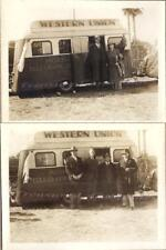 1930s Western Mobile Telegraph Union Trailer Office at Football Game Photos