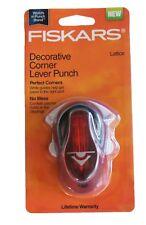 NEW Fiskars Lattice Decorative Corner Lever Paper Punch Scrapbooking 01-005481