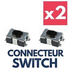 2x Switch Réparation Coque Clé Télécommande Plip Peugeot 207 307 308 407 Partner