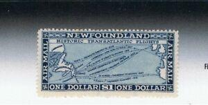 Newfoundland/Canada -1924 'Transatlantic Flight' - SG 197 $1 deep blue with wmk