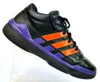 8d1a858b4dd01 Adidas Sample NBA Black Orange Purple MId Top Basketball Shoes Men s 13.5  RARE