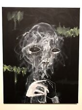 GUS FINK art ORIGINAL outsider surreal abstract graffiti lowbrow OUT OF CHAOS