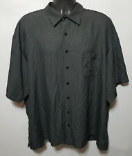 Joseph & Feiss Classic Fit Men's Short Sleeve Button Front Shirt Size 3X