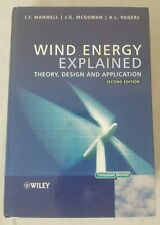 Wind Energy Explained: Theory, Design and Application 2nd Ed Hardcover Manwell