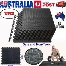 12 Tiles EVA Rubber Foam Camping Gym Mats Fitness Flooring 60x60x1.2cm AU Stock