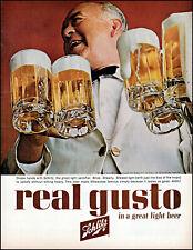 1963 Beer mugs bartender Schlitz Beer Milwaukee vintage photo print ad adL94