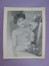 ORIGINAL 1950S 5X4 PINUP PHOTO..NUDE,RISQUE ' BUSTY BEAUTY '  # 40A..LINDA WEST