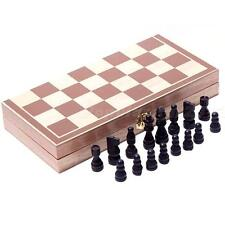 Wooden Pieces Chess Set Vintage Folding Board Box Wood Hand Carved Kids Toys Hot