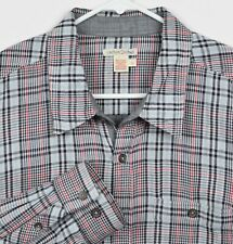 Carbon 2 Cobalt Men's Sz Large Glen Check Black Red Plaid Button-Front Shirt