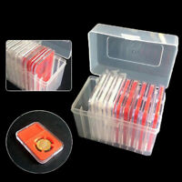 1 Pcs 10 Coin Capacity Holder Slabs Storage Box Case For Plastic PortablePLUS