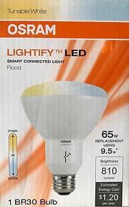 5 Sylvania OSRAM Lightify Smart Home 65-Watt BR30 Floodlights - Hub not Included