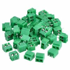 50 Pieces 2 Pin 5 mm Pinch PCB Mount Screw Terminal Block Connector 300V 10 KL