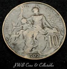 1902 France 10 Centimes Coin