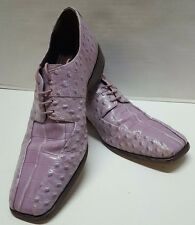 Stacy Adams Purple Oxford Lace Up Shoes Size 9 1/2 M Genuine 3.Snakeskin Leather