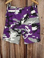 Rothco Ultra Force BDU Purple Camo Polyester Blend Cargo Shorts Sz S Regular 31