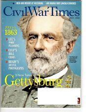 Civil War Times Aug 2013: Gettysburg issue, Vicksburg, M Brady,  index image