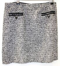 LK Bennett Cream Charlee Tweed A-Line Mini Skirt Size 14 - W74
