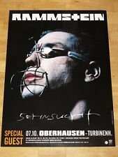 "Rammstein German Concert Promo Poster - ""NOSTALGIE"" 1997 CONCERT Original Comme neuf"
