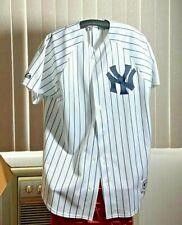 New York Yankees MLB Baseball White Majestic Jersey Pinstripe Men's Medium Used