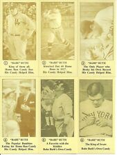 Babe Ruth Reprint Card Complete 6 Card Set 1928 George Ruth Candy - Mint