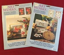Lot of 2 Springs Art Works Decorative Transfers Apples & Flowers and Fruit Salad