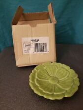 Andrea by Sadek Decorative Plate, New In Box, Floral Design, Green