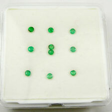 Qty = 10 Natural Emeralds Loose Gemstone Round Cut - 2.00 mm 0.43 carats - LOT04