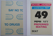 MICHAEL JACKSON JAPAN BAD WORLD TOUR 1987 PEPSI / NTT PREFERRED SEATING 49 PASS