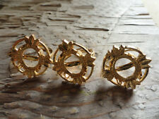 4 Leaf Ring Gold Plated Adjustable 10x12mm  4 Prong (Pkg 3) 0003 bright gold