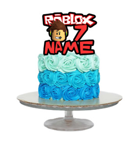 ROBLOX INSPIRED PERSONALISED BIRTHDAY CAKE TOPPER ANY NAME AGE