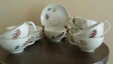 Franciscan Autumn Leaves Cup and Saucer Set 1958 – 1960 Hallmarks (Lot of 8)