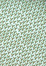 2 X A4 Lado Único Holly Y Cerezas Estampado Apoyo Papel 100gsm Nuevo