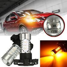 2x Amber LED Turn Signal Bulb Lights No Error For BMW Audi PY24W BAU15S PY21W