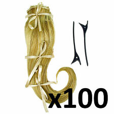 "Hair Extensions Joblot Clip in 2 Piece Ken Paves Hairdo Ginger Blonde 16"" X100"