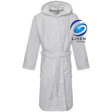 Kids Boys Girls 100% Egyptian Cotton Velour Terry Towelling Bath Robe Hooded
