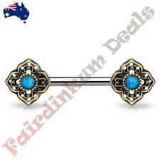 Turquoise 14g (1.6 mm) Thickness Gauge Piercing Rings