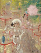 Icart Louis Cafe au Bois Print 11 x 14 #3108
