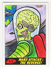2017 TOPPS MARS ATTACKS REVENGE Barry Nygma 1/1 Sketch Card MARTIANS APPROACHING